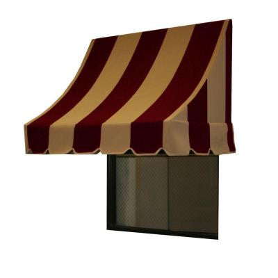 45 ft. Nantucket Window/Entry Awning (44 in. H x 36 in. D) in Burgundy/Tan Stripe