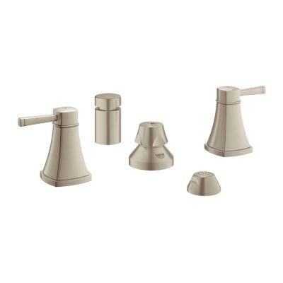 Grandera 2-Handle Bidet Faucet in Brushed Nickel InfinityFinish
