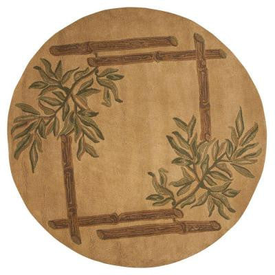 Bamboo Gold 5 ft. 9 in. Round Area Rug