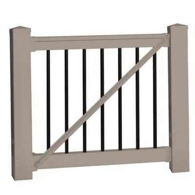 Bellaire 36 in. x 60 in. Vinyl Khaki Gate Rail Kit