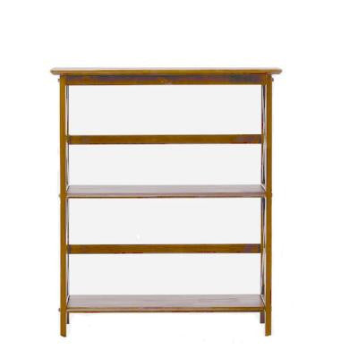 Montego 29.5 in. W Low 2-Shelf Bookshelf in Walnut