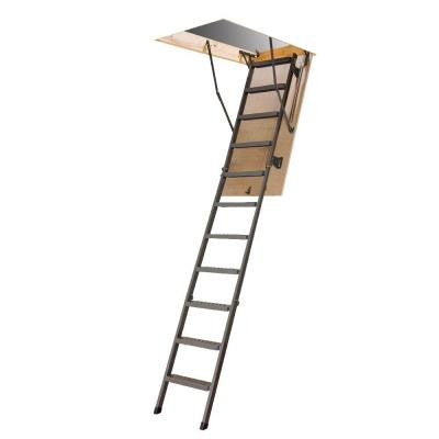 10 ft., 54 in. x 25 in. Steel Attic Ladder with 300 lb. Load Capacity Type IA Duty Rating