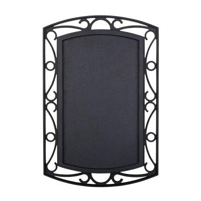 Wireless or Wired Door Bell - Black with Scroll Metal Accent