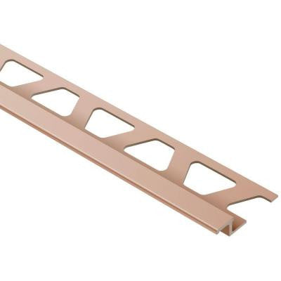 Reno-TK Satin Copper/Bronze Anodized Aluminum 1/4 in. x 8 ft. 2-1/2 in. Metal Reducer Tile Edging Trim