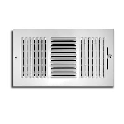 14 in. x 8 in. 3 Way Wall/Ceiling Register