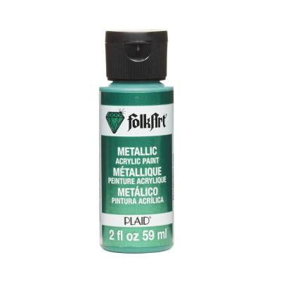 2-oz. Emerald Green Metallic Craft Paint