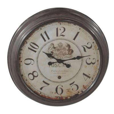 Sundry 25 in. x 25 in. Toscana Wall Clock