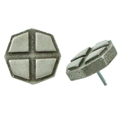 Contempo Cross Pewter 1-1/5 in. x 1-1/5 in. Mosaic Medallion Pin Insert Wall Tile (4-Pack )