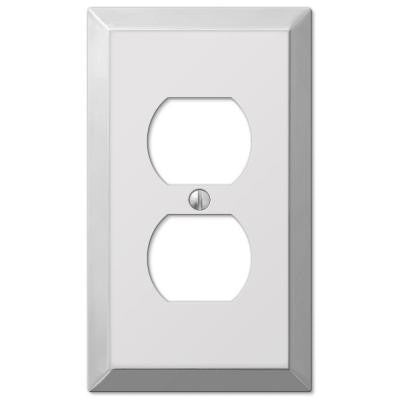 Century 1 Duplex Steel Outlet Plate - Chrome