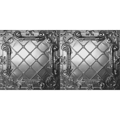 2 ft. x 4 ft. Nail-up/Direct Application Tin Ceiling Tile in Bare Steel (24 sq. ft. / case)