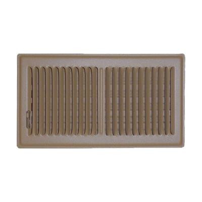 6 in. x 10 in. Floor Vent Register, Brown with 2-Way Deflection