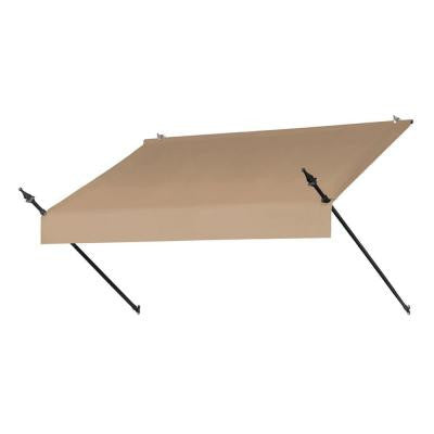 6 ft. Designer Manually Retractable Awning (Projection 36.5 in.) in Sand