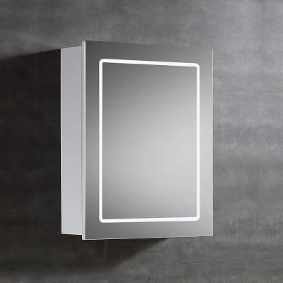 20 in. W x 25 in. H x 6 in. D Surface-Mount LED Mirror Medicine Cabinet in Chrome