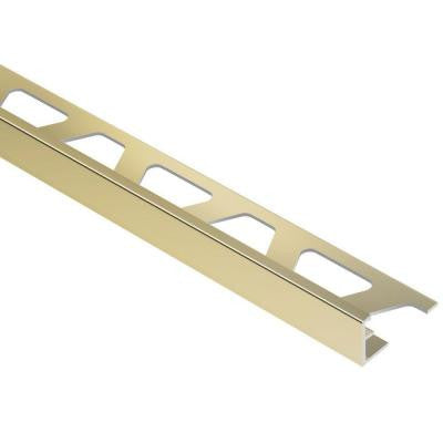 Jolly Polished Brass Anodized Aluminum 3/8 in. x 8 ft. 2-1/2 in. Metal Tile Edging Trim