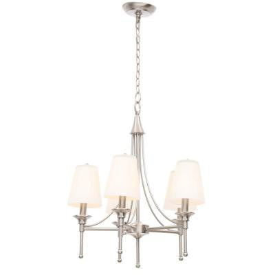 Sadie Collection 5-Light Satin Nickel Chandelier