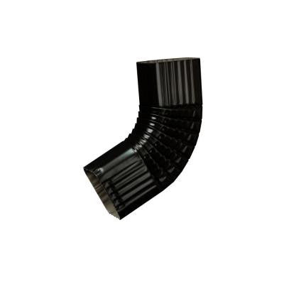 3 in. x 4 in. Black Aluminum Downspout B Elbow