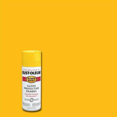 12 oz. Protective Enamel Gloss Sunburst Yellow 25% More Free Bonus Size Spray Paint (6-Pack)