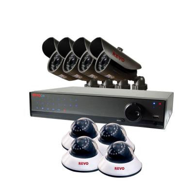 Lite 16-Channel 1TB DVR Surveillance System with (8) 660 TVL Cameras
