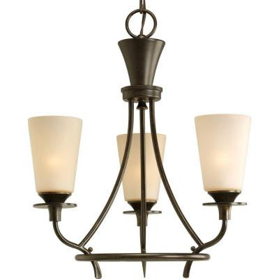 Cantata Collection 3-Light Forged Bronze Chandelier