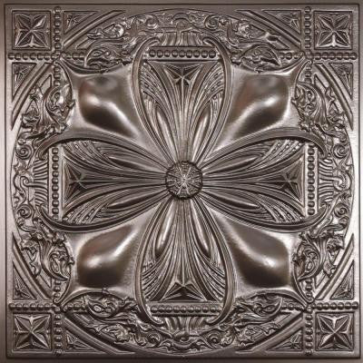 Avalon Faux Tin 2 ft. x 2 ft. Lay-in or Glue-up Ceiling Panel (Case of 6)