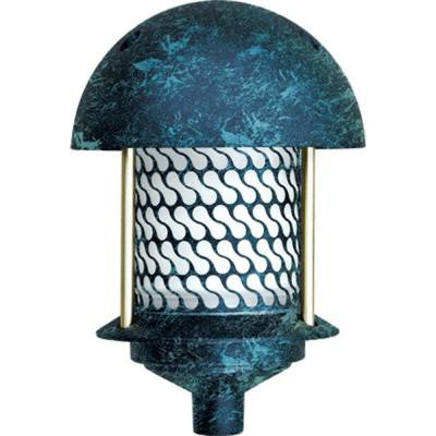 Corbin 1-Light Verde Green Round Top Outdoor Pagoda Pathway Light