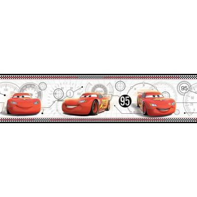 9 in. H Walt Disney Kids II Lightning Mcqueen Border
