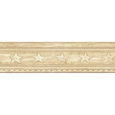5.13 in. x 15 ft. Beige Star Crown Molding Border