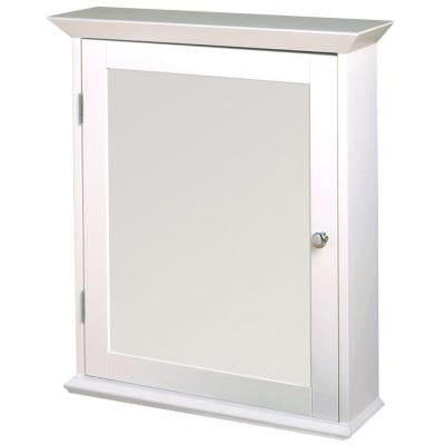 22 in. x 25 in. Wood Swing Door Surface-Mount Medicine Cabinet in White