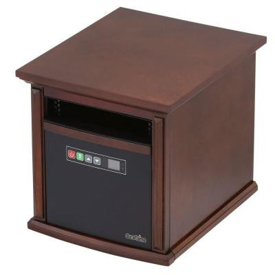 Livingstone 1500-Watt Infrared Portable Heater - Walnut