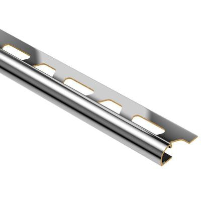 Rondec Chrome-Plated Solid Brass 1/4 in. x 8 ft. 2-1/2 in. Metal Bullnose Tile Edging Trim