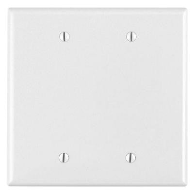 2-Gang Midway Blank Nylon Wall Plate - White