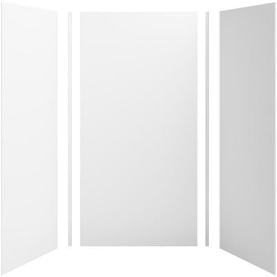 Choreograph 48in. X 36 in. x 96 in. 5-Piece Shower Wall Surround in White for 96 in. Showers