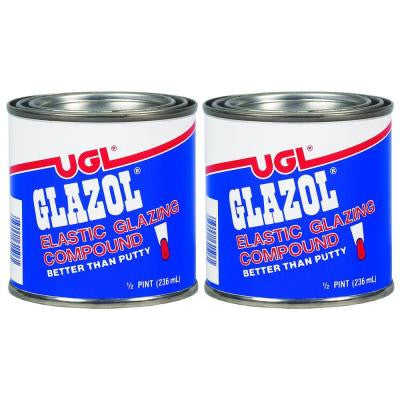 0.5-pt. Glazol Glazing Compound (2-Pack)