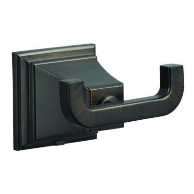 Torino Double Robe Hook in Brushed Bronze