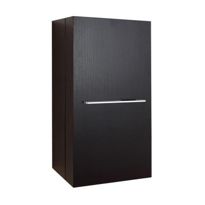 Carvell 15-4/6 in. W x 11-6/8 in. D x 31-1/2 in. H Bathroom Wall Cabinet in Espresso