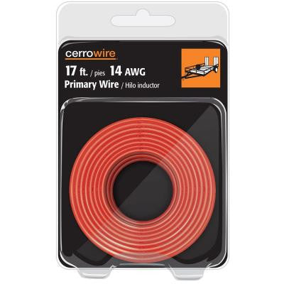 17 ft. 14-Gauge Primary Wire - Red