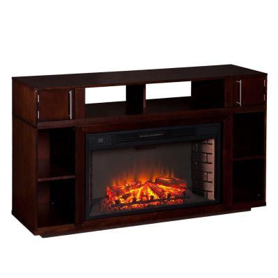 Sandy 56 in. Freestanding Media Electric Fireplace in Espresso