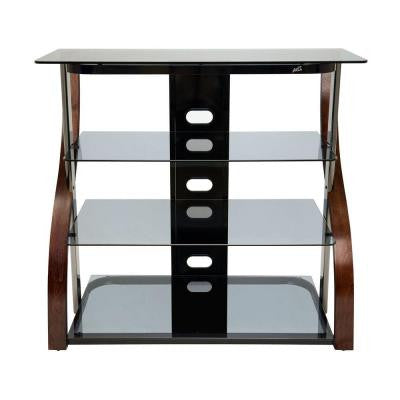 40 in. 4-Shelf Audio/Video Tower - Vibrant Espresso