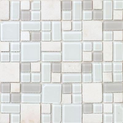 No Ka 'Oi Kapalua-Ka420 Stone And Glass Blend Mesh Mounted Floor and Wall Tile - 3 in. x 3 in. Tile Sample