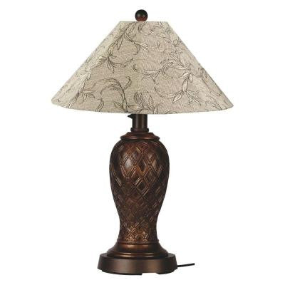 Monterey 34 in. Bronze Outdoor Table Lamp with Bessemer Shade