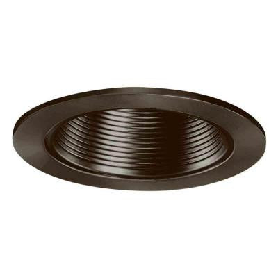 4 in. Tuscan Bronze Recessed Lighting Baffle Trim