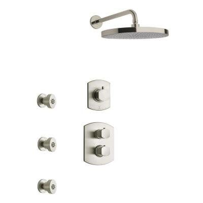 Novello Combination 4 Shower Set in Brushed Nickel