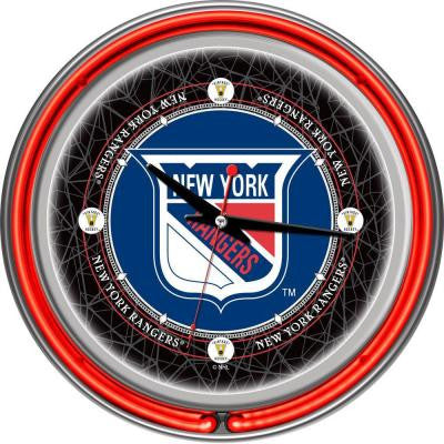 14 in. Vintage New York Rangers NHL Neon Wall Clock