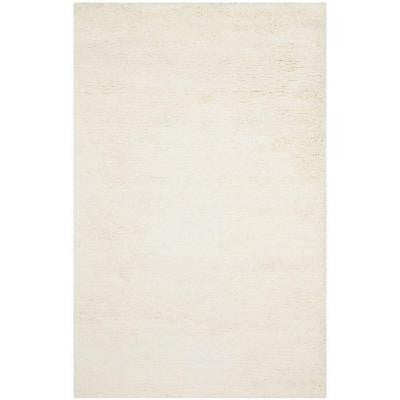 Classic Shag White 9 ft. 6 in. x 13 ft. 6 in. Area Rug