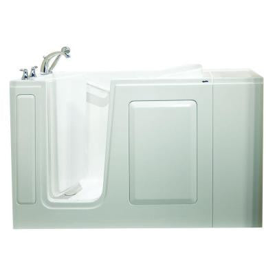 Value Series 48 in. x 28 in. Walk-In Air Bath Tub in White