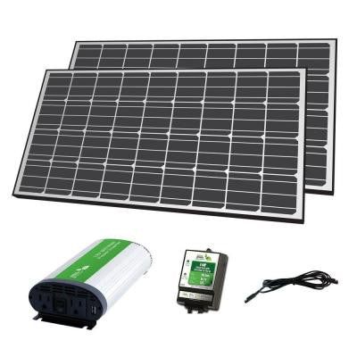 280-Watt Solar Panel Off-Grid Charger Kit