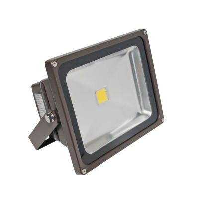 Wall-Mount 1-Head Outdoor Bronze LED Day Light Flood Light