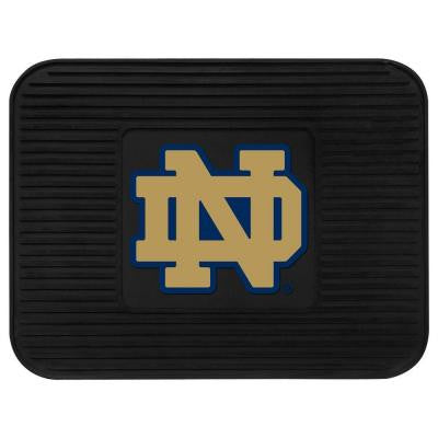 NCAA Notre Dame Black Heavy Duty 1-Piece 14 in. x 17 in. Vinyl Utility Mat