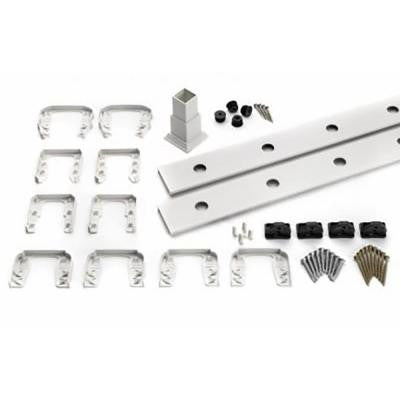 Transcend 91.5 in. White Horizontal Square Baluster Accessory Kit