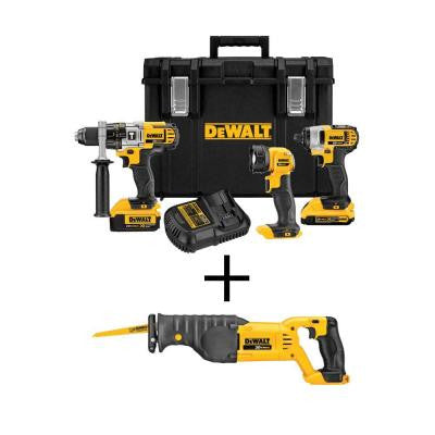 20-Volt MAX Lithium-Ion Cordless Combo Kit with Tough Case (3-Tool) with Free Reciprocating Saw